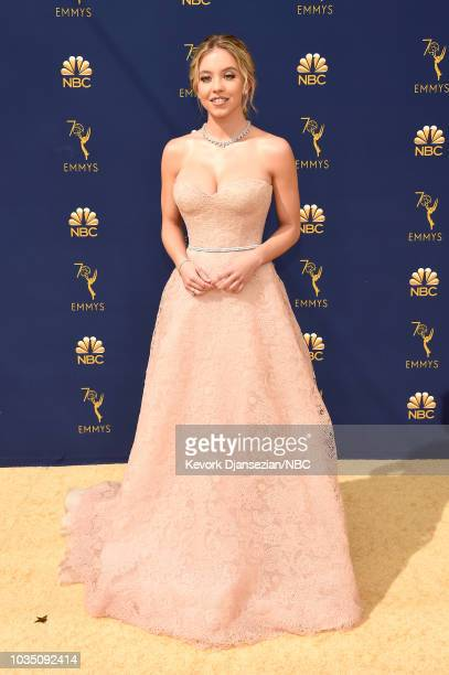 70th ANNUAL PRIMETIME EMMY AWARDS Pictured Actor Sydney Sweeney arrives to the 70th Annual Primetime Emmy Awards held at the Microsoft Theater on...
