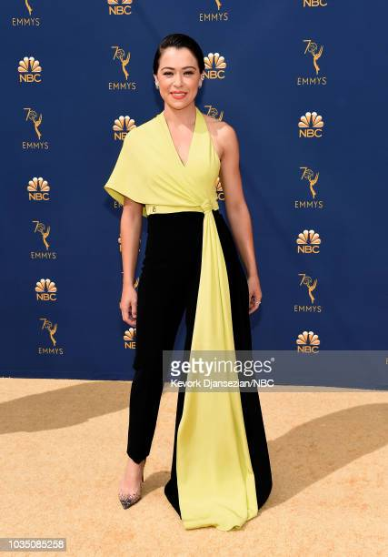 70th ANNUAL PRIMETIME EMMY AWARDS Pictured Actor Tatiana Maslany arrives to the 70th Annual Primetime Emmy Awards held at the Microsoft Theater on...