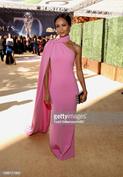70th ANNUAL PRIMETIME EMMY AWARDS Pictured Actor Thandie Newton arrives to the 70th Annual Primetime Emmy Awards held at the Microsoft Theater on...