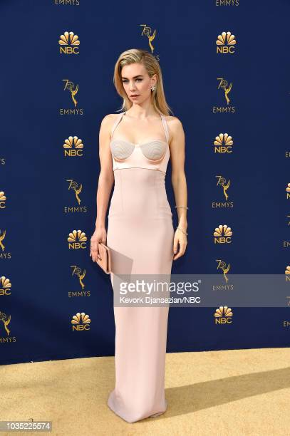 70th ANNUAL PRIMETIME EMMY AWARDS Pictured Actor Vanessa Kirby arrives to the 70th Annual Primetime Emmy Awards held at the Microsoft Theater on...