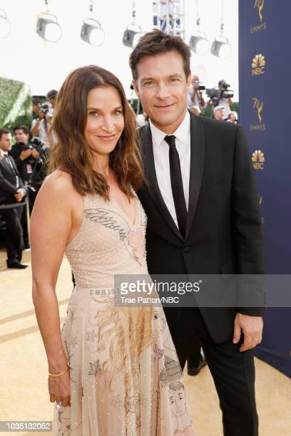 70th ANNUAL PRIMETIME EMMY AWARDS Pictured Actors Amanda Anka and Jason Bateman arrive to the 70th Annual Primetime Emmy Awards held at the Microsoft...
