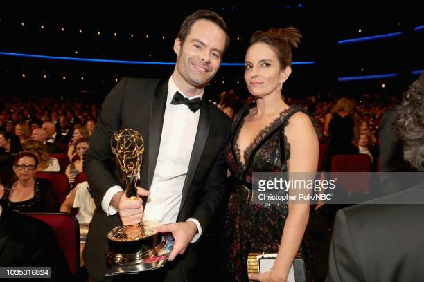 70th ANNUAL PRIMETIME EMMY AWARDS Pictured Actors Bill Hader and Tina Fey attend the 70th Annual Primetime Emmy Awards held at the Microsoft Theater...