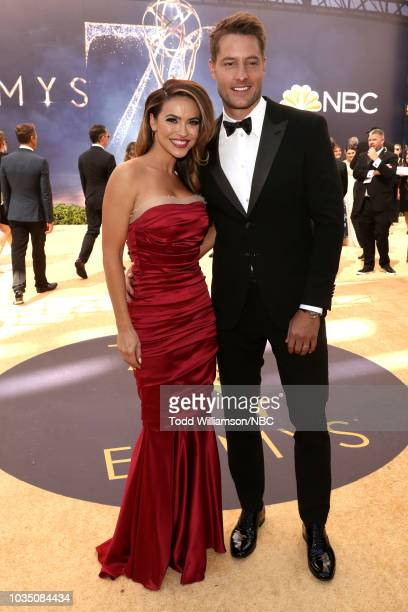 70th ANNUAL PRIMETIME EMMY AWARDS Pictured Actors Chrishell Stause and Justin Hartley arrive to the 70th Annual Primetime Emmy Awards held at the...