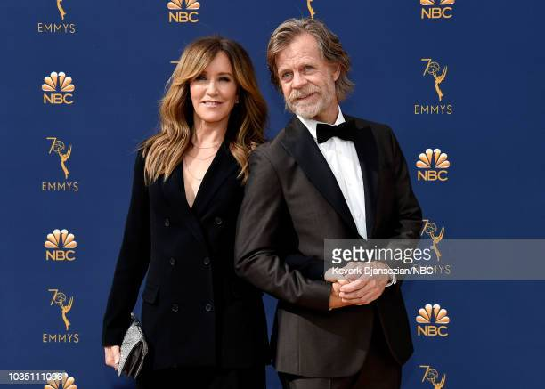 70th ANNUAL PRIMETIME EMMY AWARDS Pictured Actors Felicity Huffman and William H Macy arrive to the 70th Annual Primetime Emmy Awards held at the...