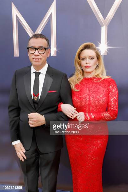 70th ANNUAL PRIMETIME EMMY AWARDS Pictured Actors Fred Armisen and Natasha Lyonne arrive to the 70th Annual Primetime Emmy Awards held at the...