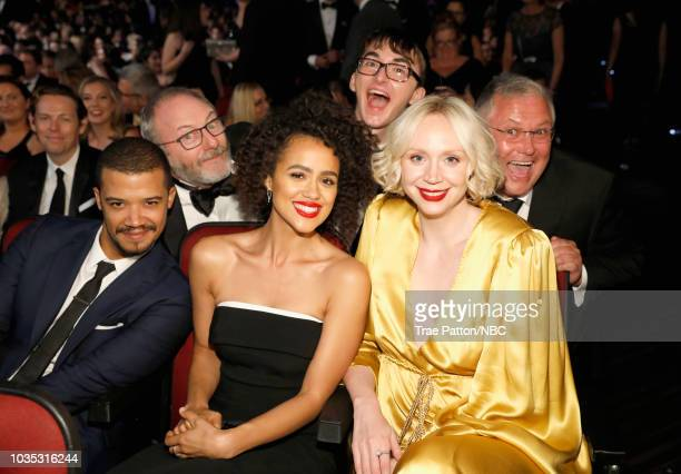 70th ANNUAL PRIMETIME EMMY AWARDS Pictured Actors Jacob Anderson Liam Cunningham Nathalie Emmanuel Isaac Hempstead Wright Gwendoline Christie and...