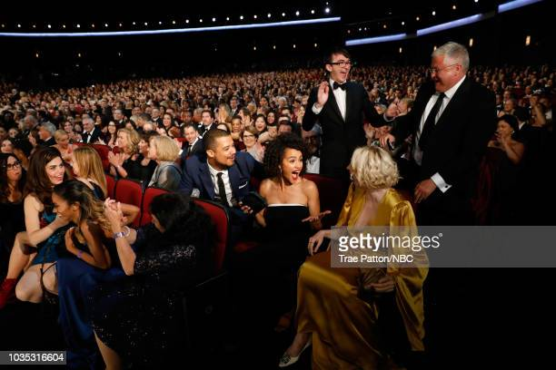 70th ANNUAL PRIMETIME EMMY AWARDS -- Pictured: Actors Jacob Anderson, Liam Cunningham, Nathalie Emmanuel, Isaac Hempstead Wright, Gwendoline...