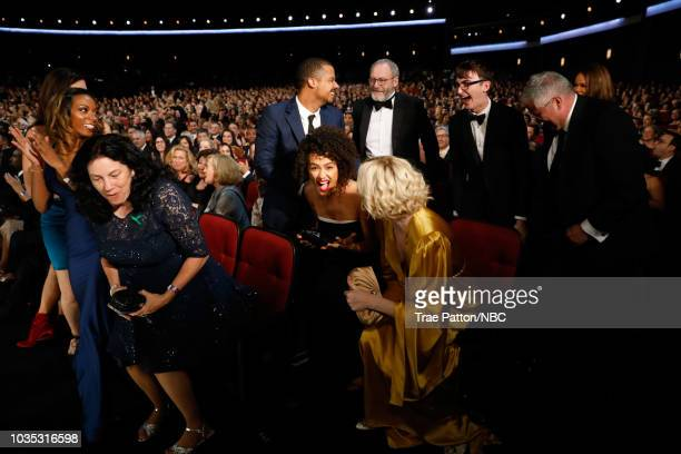 70th ANNUAL PRIMETIME EMMY AWARDS Pictured Actors Jacob Anderson Nathalie Emmanuel Liam Cunningham Gwendoline Christie Isaac Hempstead Wright and...