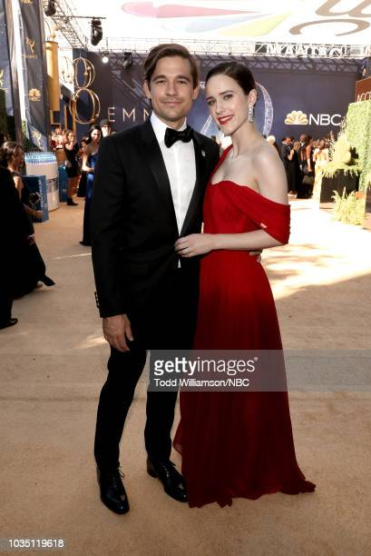 70th ANNUAL PRIMETIME EMMY AWARDS Pictured Actors Jason Ralph and Rachel Brosnahan arrive to the 70th Annual Primetime Emmy Awards held at the...