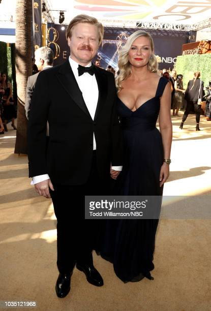 70th ANNUAL PRIMETIME EMMY AWARDS -- Pictured: Actors Jesse Plemons and Kirsten Dunst arrive to the 70th Annual Primetime Emmy Awards held at the...