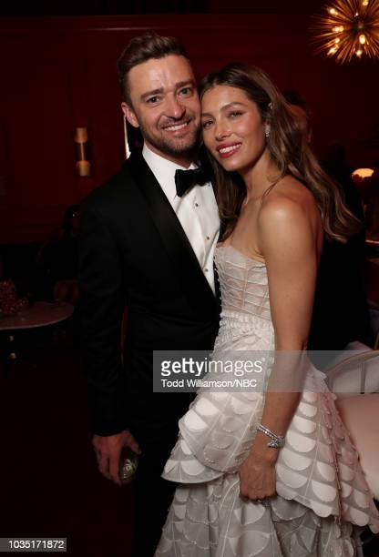 70th ANNUAL PRIMETIME EMMY AWARDS Pictured Actors Justin Timberlake and Jessica Biel arrive to the 70th Annual Primetime Emmy Awards held at the...