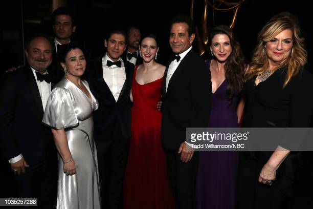 70th ANNUAL PRIMETIME EMMY AWARDS Pictured Actors Kevin Pollak Alex Borstein Michael Zegen Rachel Brosnahan Tony Shalhoub Marin Hinkle and Caroline...