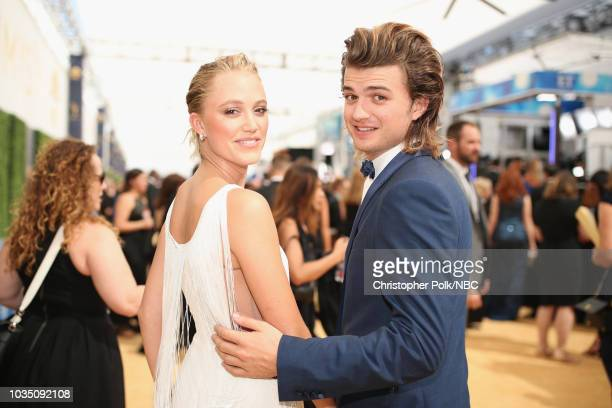 70th ANNUAL PRIMETIME EMMY AWARDS Pictured Actors Maika Monroe and Joe Keery arrive to the 70th Annual Primetime Emmy Awards held at the Microsoft...