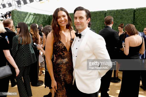 70th ANNUAL PRIMETIME EMMY AWARDS Pictured Actors Mandy Moore and Milo Ventimiglia arrive to the 70th Annual Primetime Emmy Awards held at the...