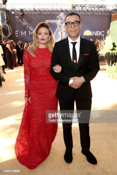 70th ANNUAL PRIMETIME EMMY AWARDS Pictured Actors Natasha Lyonne and Fred Armisen arrive to the 70th Annual Primetime Emmy Awards held at the...
