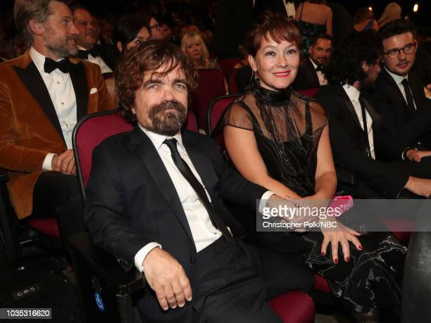 70th ANNUAL PRIMETIME EMMY AWARDS Pictured Actors Peter Dinklage and Erica Schmidt arrives to the 70th Annual Primetime Emmy Awards held at the...