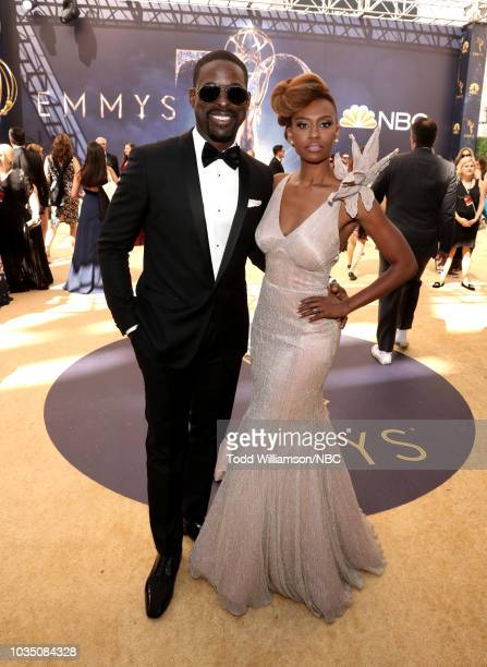 70th ANNUAL PRIMETIME EMMY AWARDS Pictured Actors Sterling K Brown and Ryan Michelle Bathe arrive to the 70th Annual Primetime Emmy Awards held at...