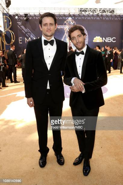 70th ANNUAL PRIMETIME EMMY AWARDS Pictured Actors Zach Woods and Thomas Middleditch arrive to the 70th Annual Primetime Emmy Awards held at the...