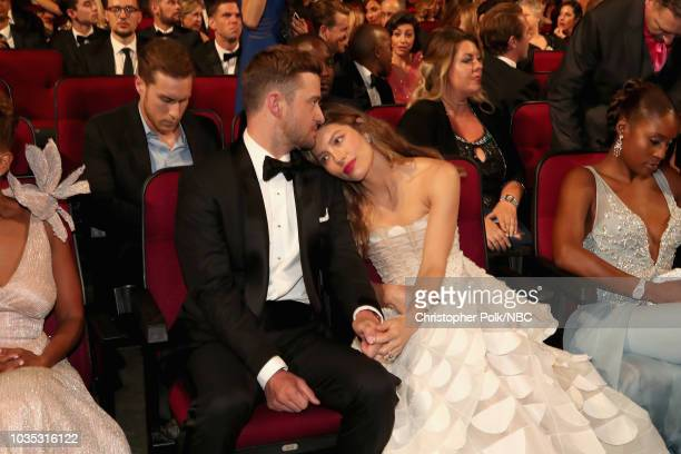 70th ANNUAL PRIMETIME EMMY AWARDS Pictured Actor/singer Justin Timberlake and actor Jessica Biel attend the 70th Annual Primetime Emmy Awards held at...