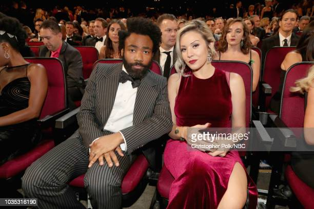 70th ANNUAL PRIMETIME EMMY AWARDS -- Pictured: Actor/writer Donald Glover and Michelle attend the 70th Annual Primetime Emmy Awards held at the...