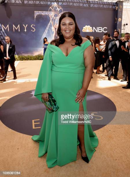 70th ANNUAL PRIMETIME EMMY AWARDS Pictured Actress Britney Young arrives to the 70th Annual Primetime Emmy Awards held at the Microsoft Theater on...