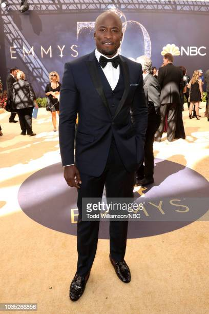 70th ANNUAL PRIMETIME EMMY AWARDS Pictured Akbar GbajaBiamila arrives to the 70th Annual Primetime Emmy Awards held at the Microsoft Theater on...