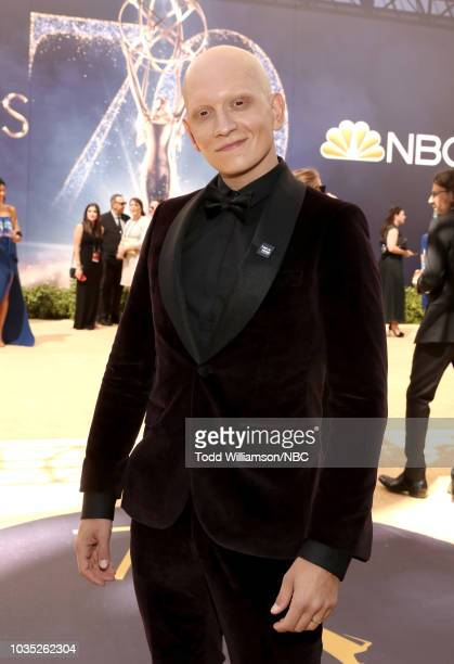 70th ANNUAL PRIMETIME EMMY AWARDS Pictured Anthony Carrigan arrives to the 70th Annual Primetime Emmy Awards held at the Microsoft Theater on...
