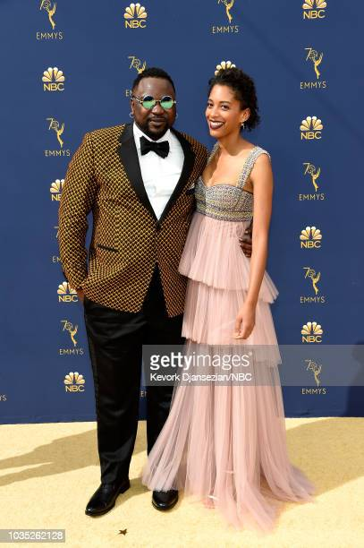 70th ANNUAL PRIMETIME EMMY AWARDS Pictured Brian Tyree Hnery and Stefani Robinson arrives to the 70th Annual Primetime Emmy Awards held at the...
