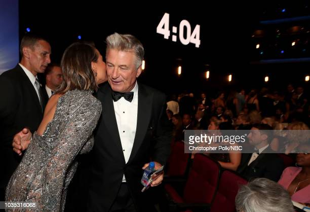 70th ANNUAL PRIMETIME EMMY AWARDS Pictured Chrissy Teigen and Alec Baldwin arrives to the 70th Annual Primetime Emmy Awards held at the Microsoft...