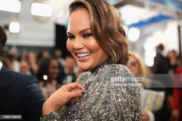 70th ANNUAL PRIMETIME EMMY AWARDS Pictured Chrissy Teigen arrives to the 70th Annual Primetime Emmy Awards held at the Microsoft Theater on September...