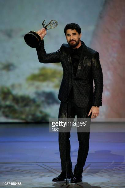 70th ANNUAL PRIMETIME EMMY AWARDS Pictured Darren Criss Lead Actor Limited Series or Movie for The Assassination of Gianni Versace American Crime...