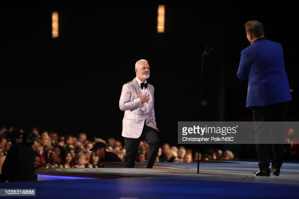 70th ANNUAL PRIMETIME EMMY AWARDS -- Pictured: Director Ryan Murphy accepts the Outstanding Limited Series award for 'The Assassination of Gianni...
