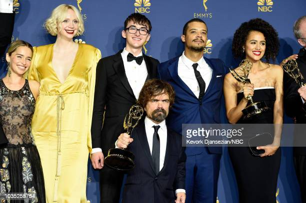 70th ANNUAL PRIMETIME EMMY AWARDS Pictured Emilia Clarke Gwendoline ChristieIsaac Hempstead Wright Peter Dinklage Jacob Anderson and Nathalie...