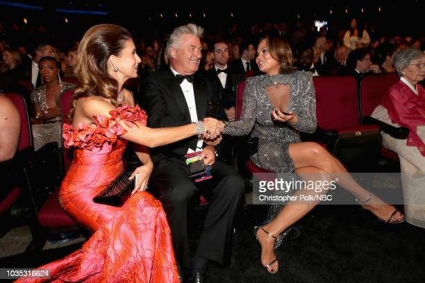 70th ANNUAL PRIMETIME EMMY AWARDS Pictured Hilaria Baldwin actor Alec Baldwin and TV personality Chrissy Teigen arrives to the 70th Annual Primetime...