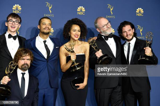 70th ANNUAL PRIMETIME EMMY AWARDS Pictured Isaac Hempstead Wright Peter Dinklage Jacob Anderson Nathalie Emmanuel Liam Cunningham and Kit Harington...