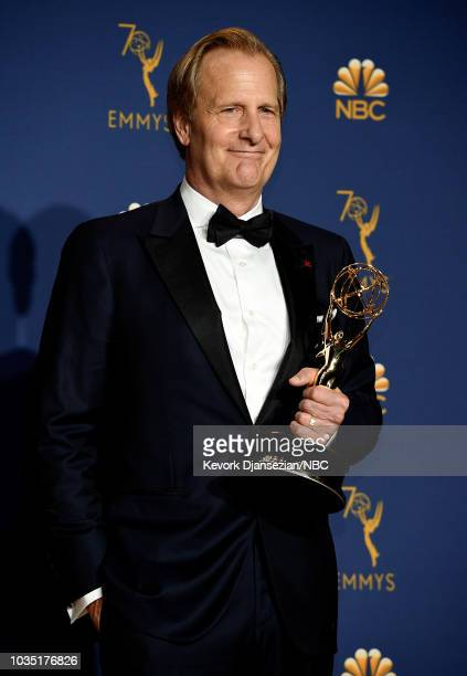 70th ANNUAL PRIMETIME EMMY AWARDS Pictured Jeff Daniels poses with the Outstanding Supporting Actor for a Limited Series or Movie for 'Godless'...