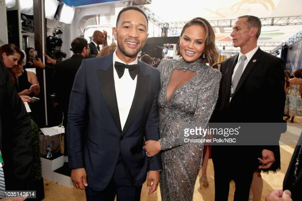 70th ANNUAL PRIMETIME EMMY AWARDS Pictured John Legend and Chrissy Teigen arrives to the 70th Annual Primetime Emmy Awards held at the Microsoft...