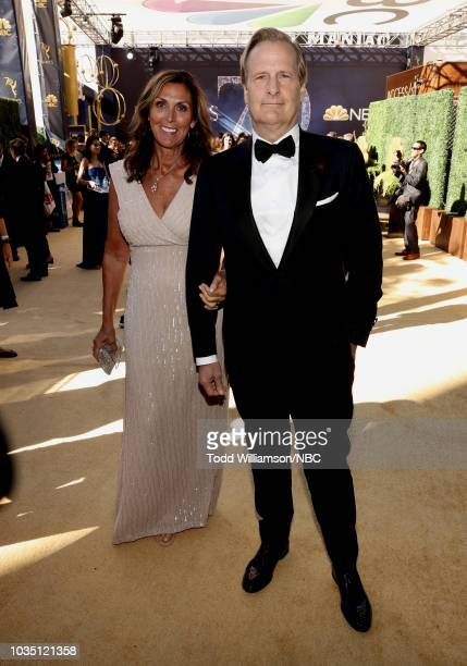70th ANNUAL PRIMETIME EMMY AWARDS Pictured Kathleen Rosemary Treado and actor Jeff Daniels arrive to the 70th Annual Primetime Emmy Awards held at...