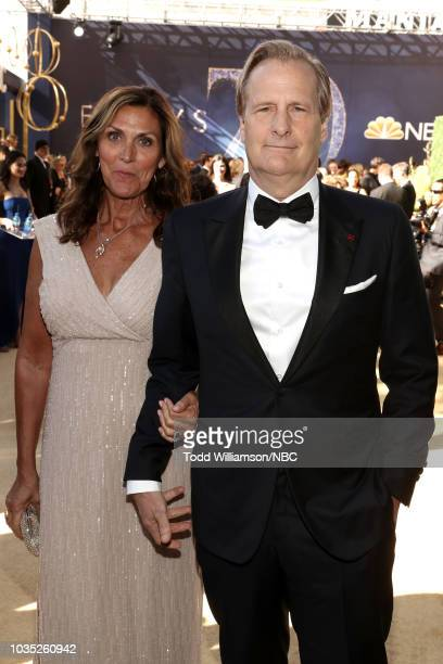 70th ANNUAL PRIMETIME EMMY AWARDS Pictured Kathleen Treado and Actor Jeff Daniels arrive to the 70th Annual Primetime Emmy Awards held at the...