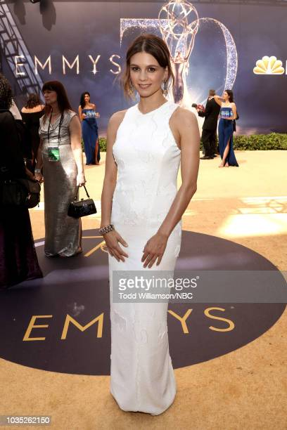 70th ANNUAL PRIMETIME EMMY AWARDS Pictured Katja Herbers arrives to the 70th Annual Primetime Emmy Awards held at the Microsoft Theater on September...