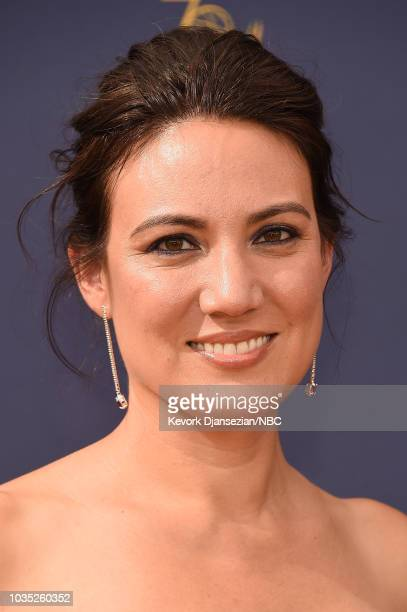 70th ANNUAL PRIMETIME EMMY AWARDS Pictured Lisa Joy arrives to the 70th Annual Primetime Emmy Awards held at the Microsoft Theater on September 17...