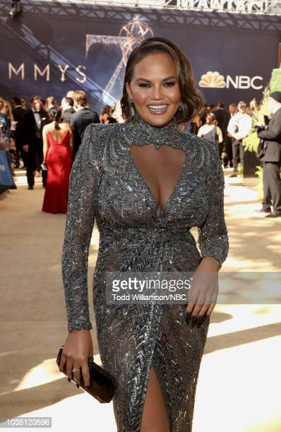 70th ANNUAL PRIMETIME EMMY AWARDS Pictured Model Chrissy Teigen arrives to the 70th Annual Primetime Emmy Awards held at the Microsoft Theater on...