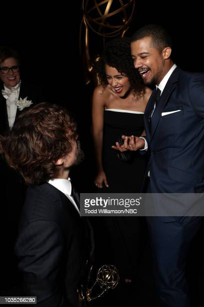 70th ANNUAL PRIMETIME EMMY AWARDS Pictured Peter Dinklage Nathalie Emmanuel and Jacob Anderson attend the 70th Annual Primetime Emmy Awards held at...