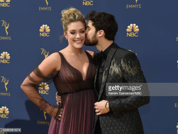 70th ANNUAL PRIMETIME EMMY AWARDS Pictured Producer Mia Swier and Actor Darren Criss arrive to the 70th Annual Primetime Emmy Awards held at the...