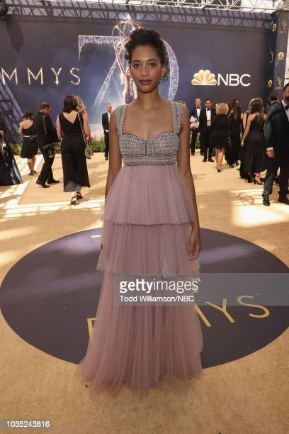 70th ANNUAL PRIMETIME EMMY AWARDS Pictured Stefani Robinson arrives to the 70th Annual Primetime Emmy Awards held at the Microsoft Theater on...