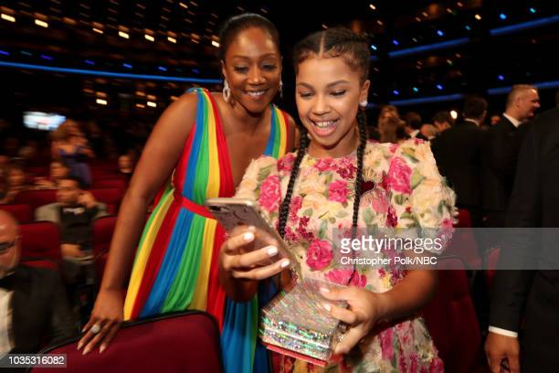 70th ANNUAL PRIMETIME EMMY AWARDS Pictured Tiffany Haddish and Juno Wright arrives to the 70th Annual Primetime Emmy Awards held at the Microsoft...
