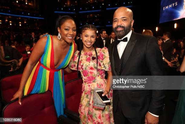 70th ANNUAL PRIMETIME EMMY AWARDS Pictured Tiffany Haddish Juno Wright and Jeffrey Wright arrives to the 70th Annual Primetime Emmy Awards held at...