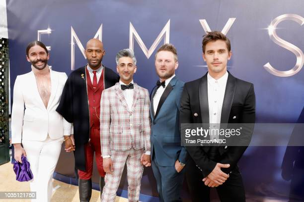 70th ANNUAL PRIMETIME EMMY AWARDS Pictured TV personalities Jonathan Van Ness Karamo Brown Tan France Bobby Berk and Antoni Porowski arrive to the...