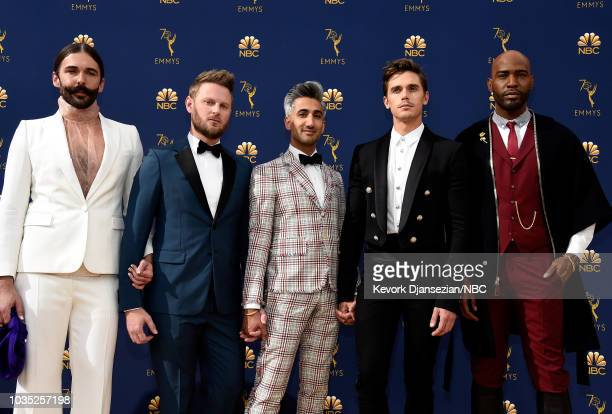 70th ANNUAL PRIMETIME EMMY AWARDS Pictured TV personalities Jonathan Van Ness Bobby Berk Tan France Antoni Porowski and Karamo Brown arrive to the...