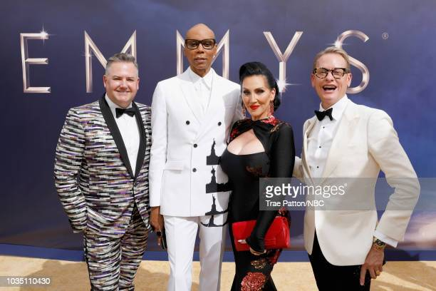 70th ANNUAL PRIMETIME EMMY AWARDS Pictured TV Personalities Ross Mathews RuPaul Michele Visage and Carson Kressley arrive to the 70th Annual...